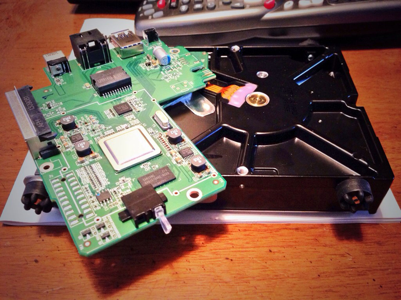 The internals of a Western Digital MyCloud device